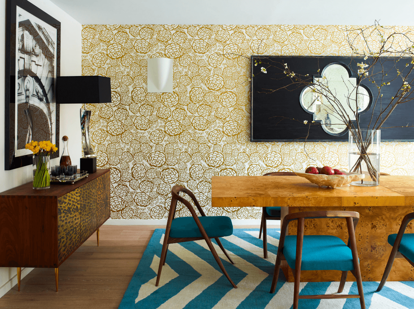 Wallpaper For Dining Room Modern.Your Home Needs 28 Stunning Wallpaper Ideas Home Lighting