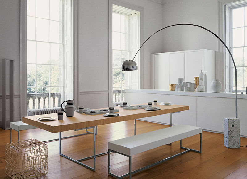 Arc Lamp Over Dining Table, Dining Room Floor Lamps