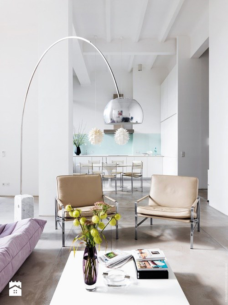 Arco Floor Lamp Gives A Modern Look To Your Living Room - Home ...
