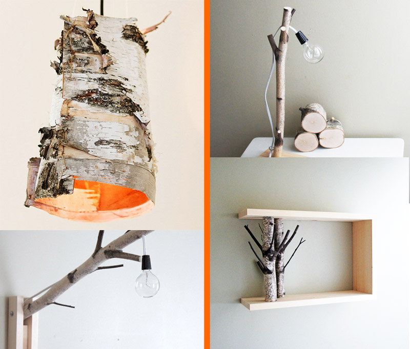 Unique Diy Projects Featuring Birch Wood Home Lighting